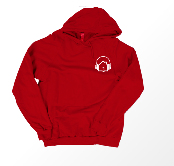 | Loud House Hoodie - White on Red